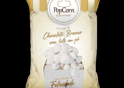 PopCorn Gourmet - Chocolate Branco com Leite em pó
